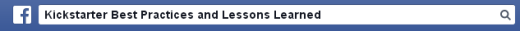 Facebook: Kickstarter